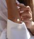 دستبند شبدر با سنگ سبز
