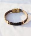 دستبند 2 حلقه طوسی
