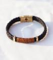 دستبند 2 حلقه سرمه ای
