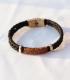 دستبند 2 حلقه مشکی