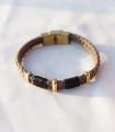 دستبند 3 حلقه طوسی