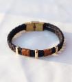 دستبند 3 حلقه سرمه ای