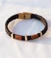 دستبند 3 حلقه مشکی