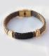 دستبند حصیری 2 حلقه طوسی
