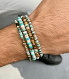 دستبند سنگی و مهره ای